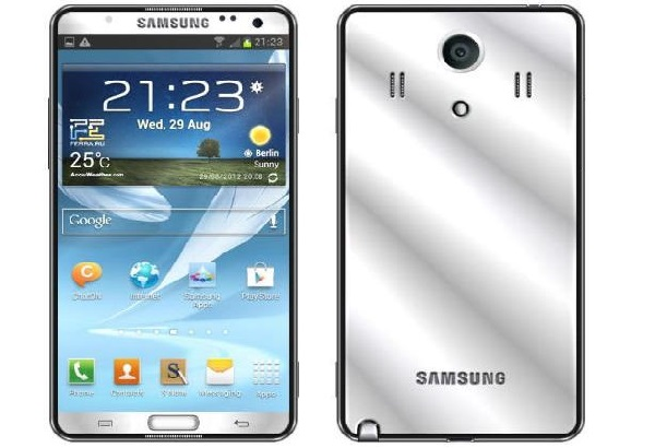 Rumoured look of the  Galaxy Note 3