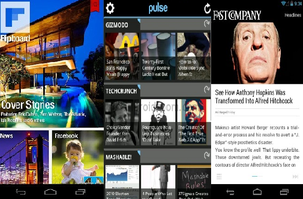 Flipboard, Pulse, and Currents