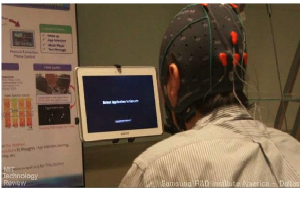 Quite a geeky-looking cap we have here - Samsung's Mind Control Tech