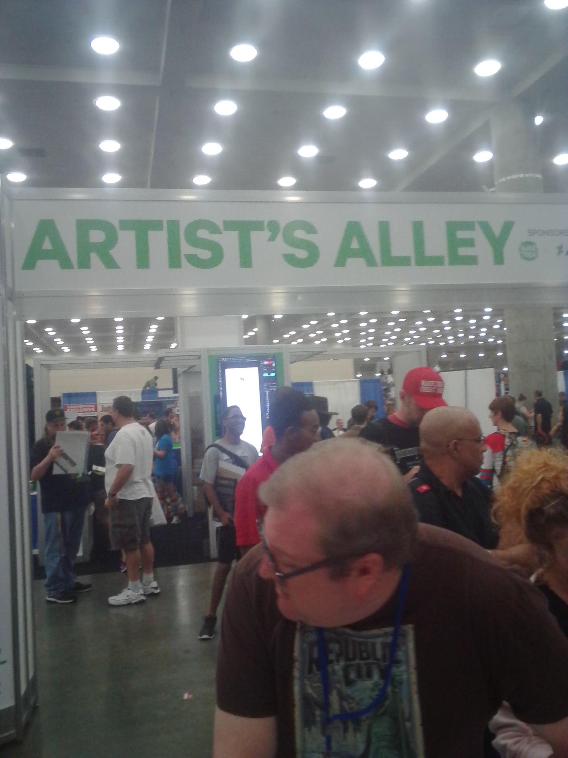 Baltimore comic con 2016 cosplay artist's alley