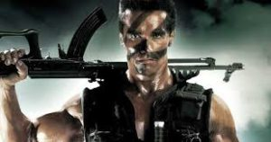 Commando gets an honorable mention for top movie kills