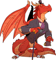 D&D Lord Cinderpuff Red Dragon