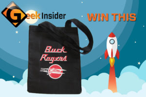 Geek insider, buck rogers tote giveaway, giveaway, prizes, contest