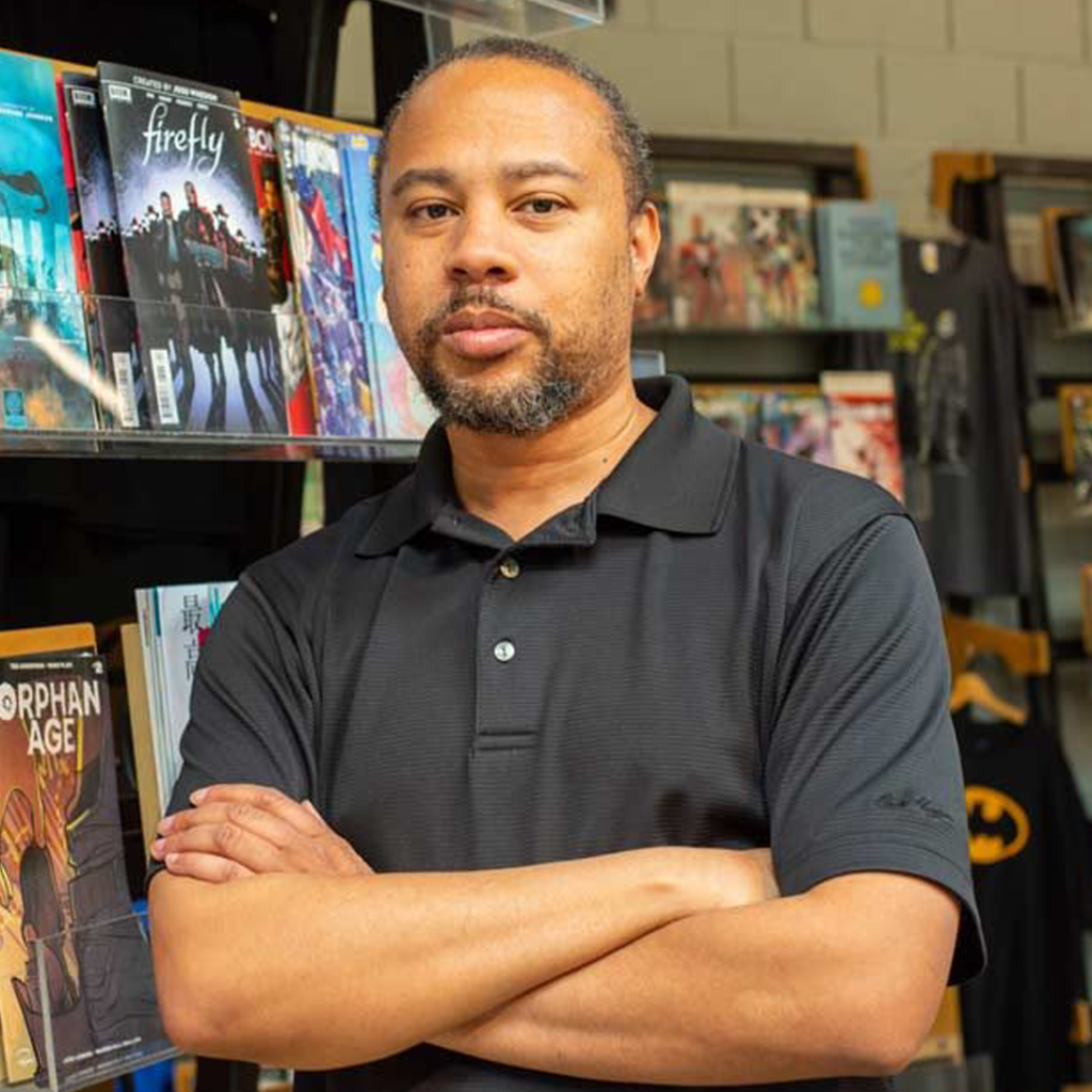 Marvin wynn, the edge comic books, is coming to geek out virtual con 2020