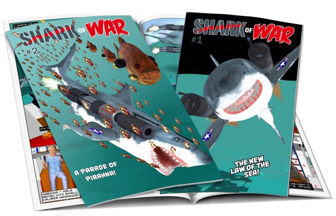 Ben lacy, shark of war, kickstarter, crowdfund, jaws meets robocop,