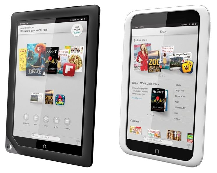 The nook hd and the nook hd plus