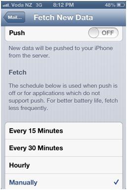 Iphone 4 fetch data