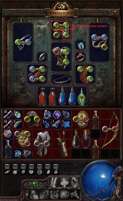 Path of exile inventory screenshot