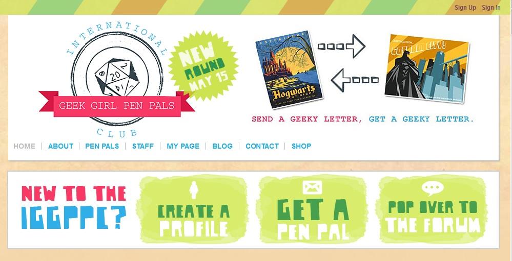 geek girl pen pals