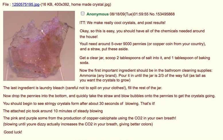 Geek insider, geekinsider, geekinsider. Com,, toxic homemade crystal recipe sweeps the internet - geek insider fyi, news