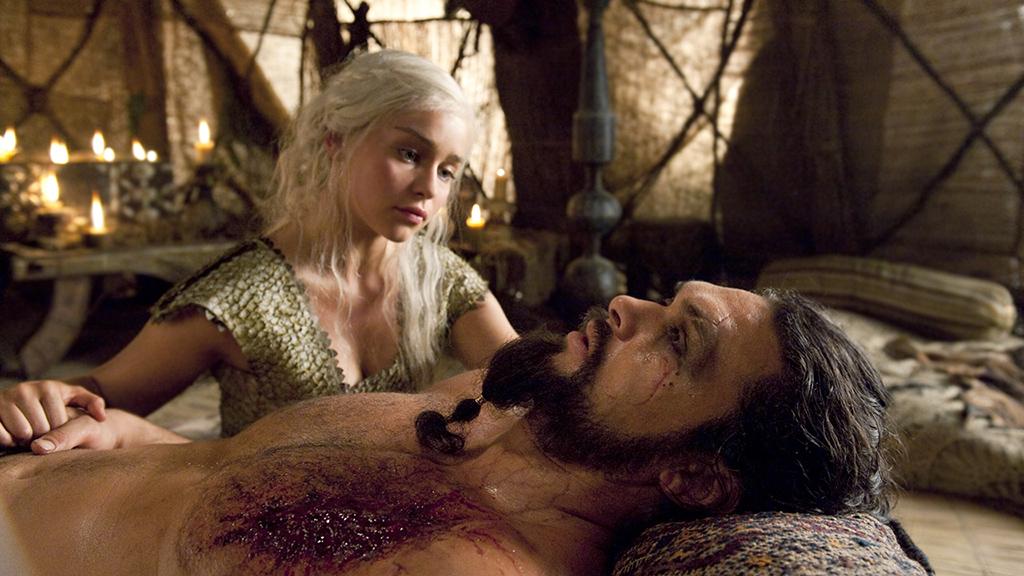 Drogo death scene in 'game of thrones'