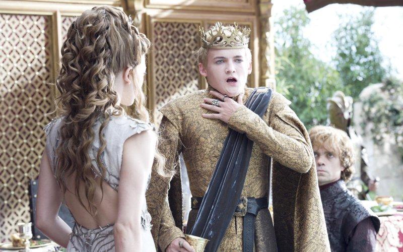 The purple wedding death scene in 'game of thrones'