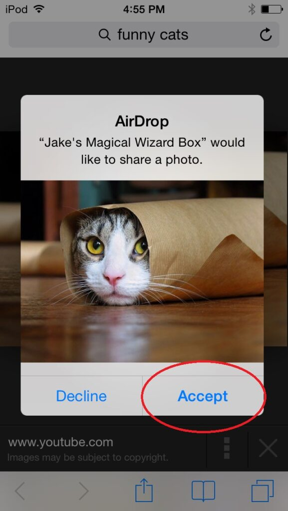 how to save an airdrop file