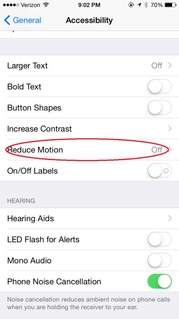 Ios 8 settings