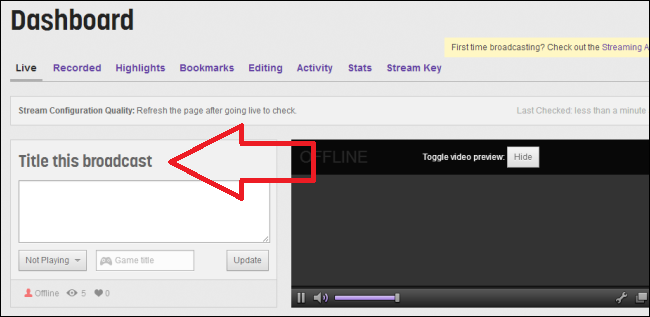 How to set up Twitch.tv to stream games