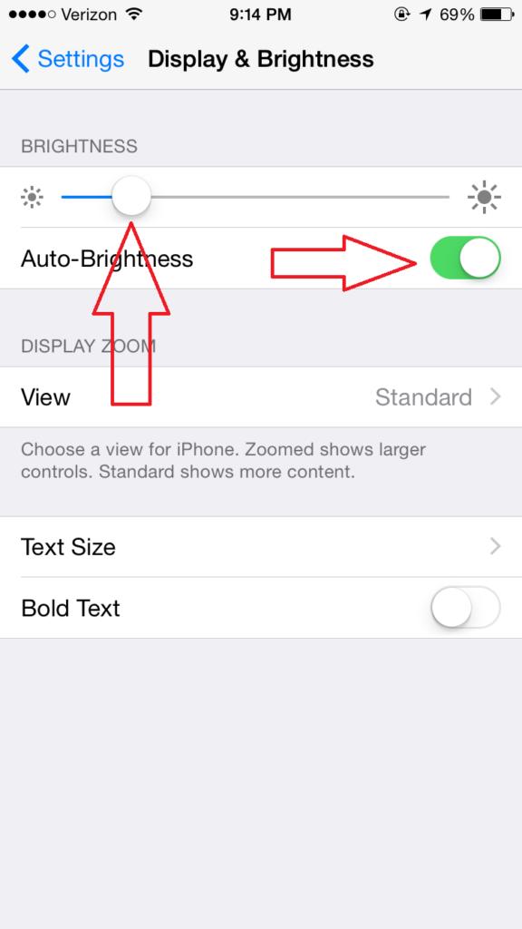 iOS display