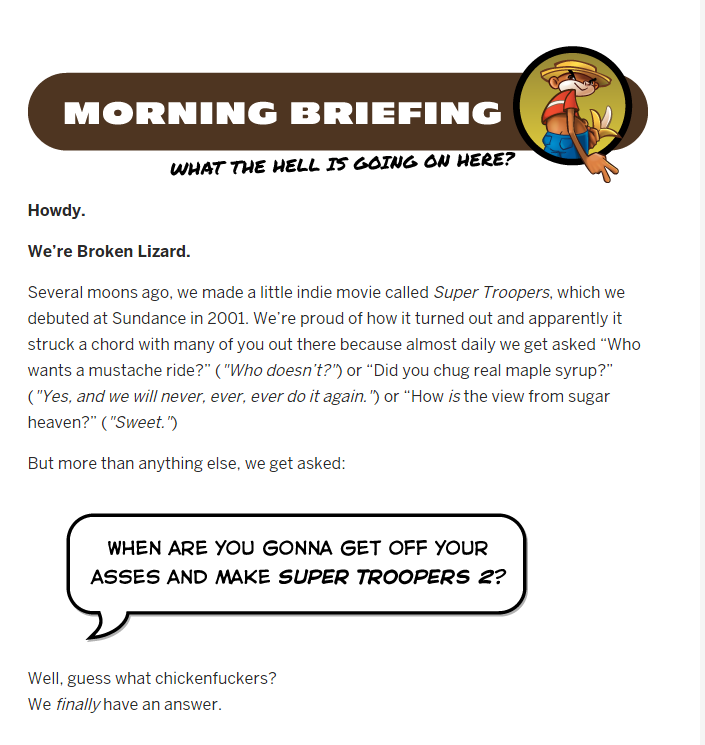 Geek insider, geekinsider, geekinsider. Com,, grab your maple syrup: super troopers is back! , entertainment, tv and movies