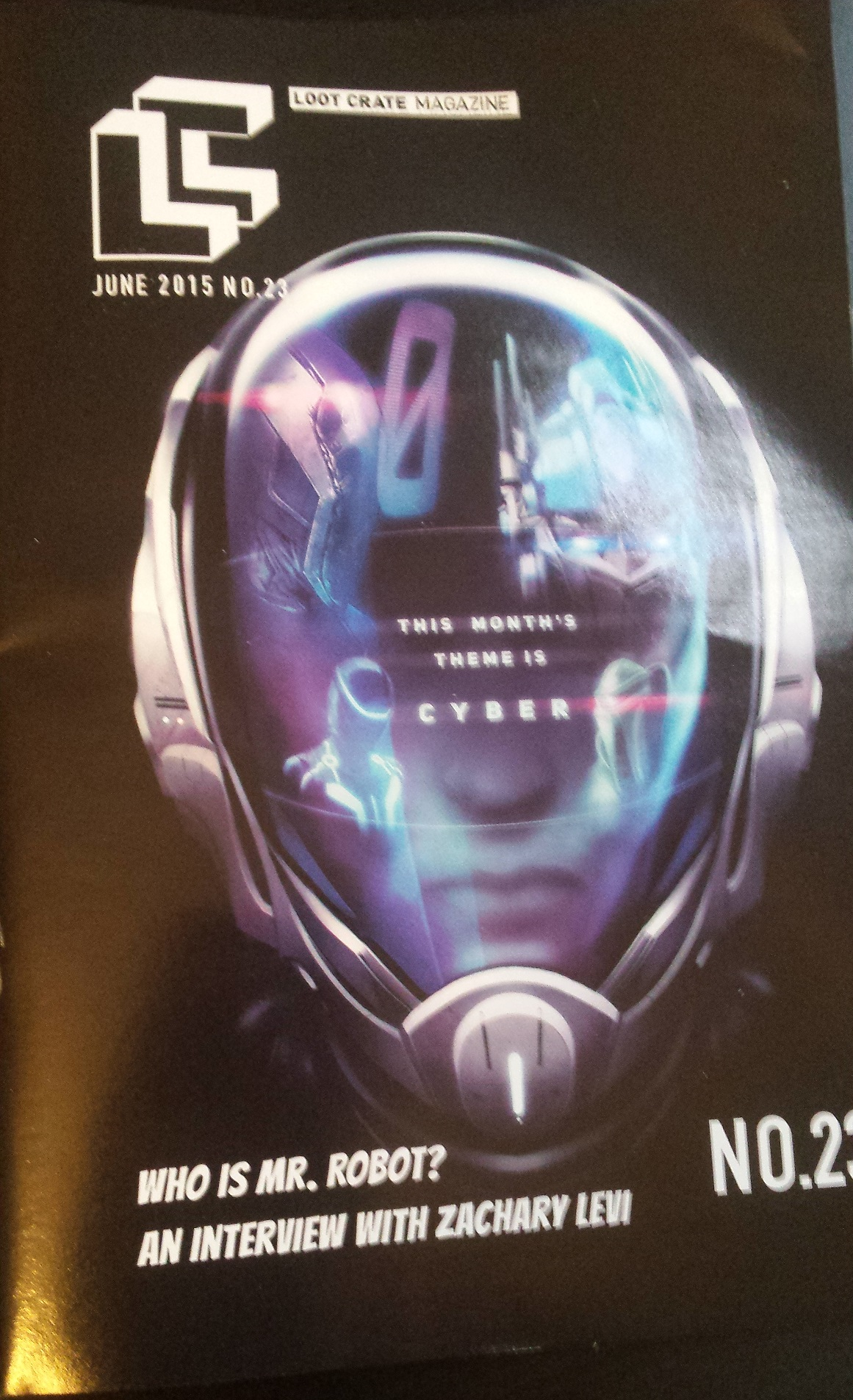 Cyber themed loot crate magazine