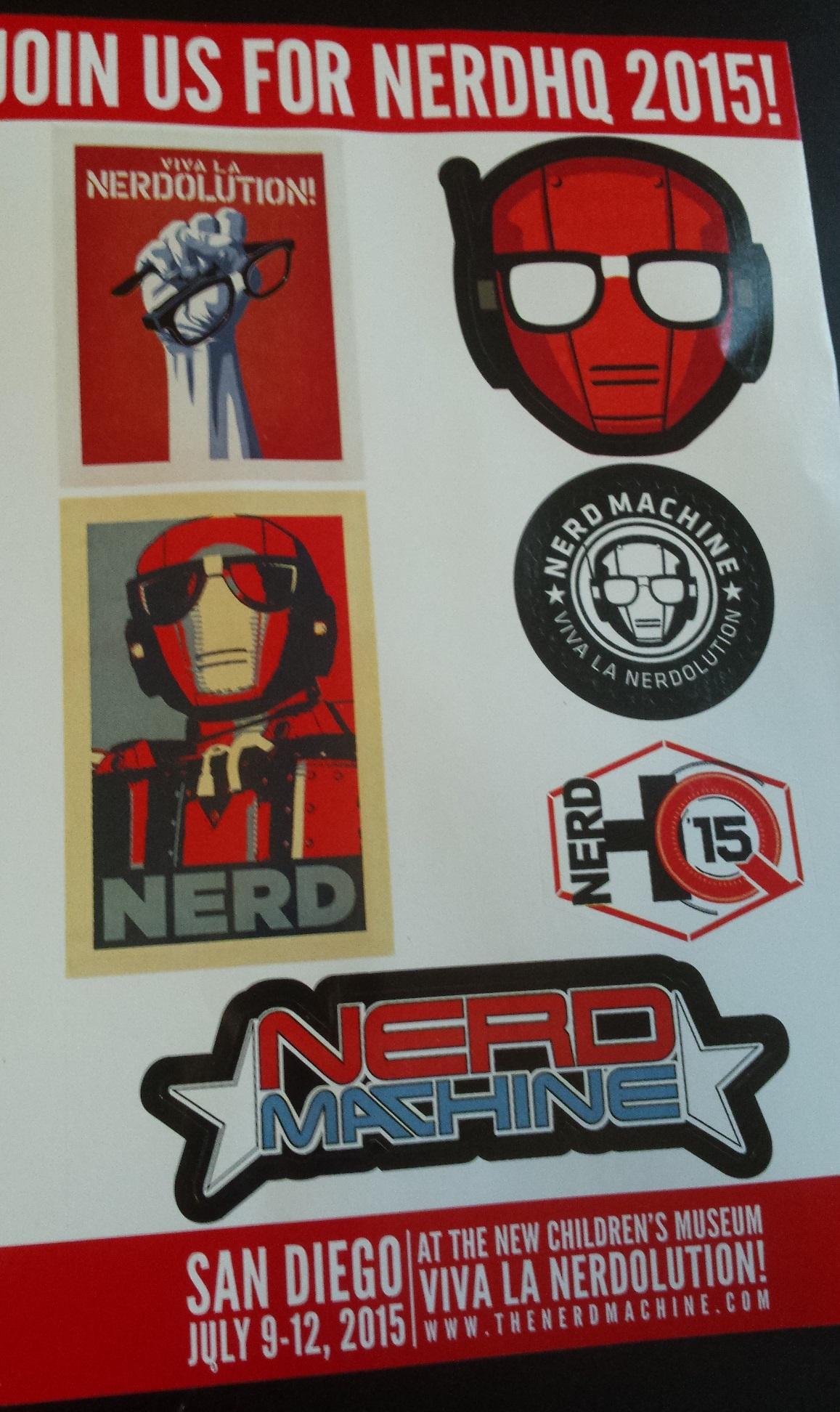 Cyber themed loot crate: nerd hq sticker sheet