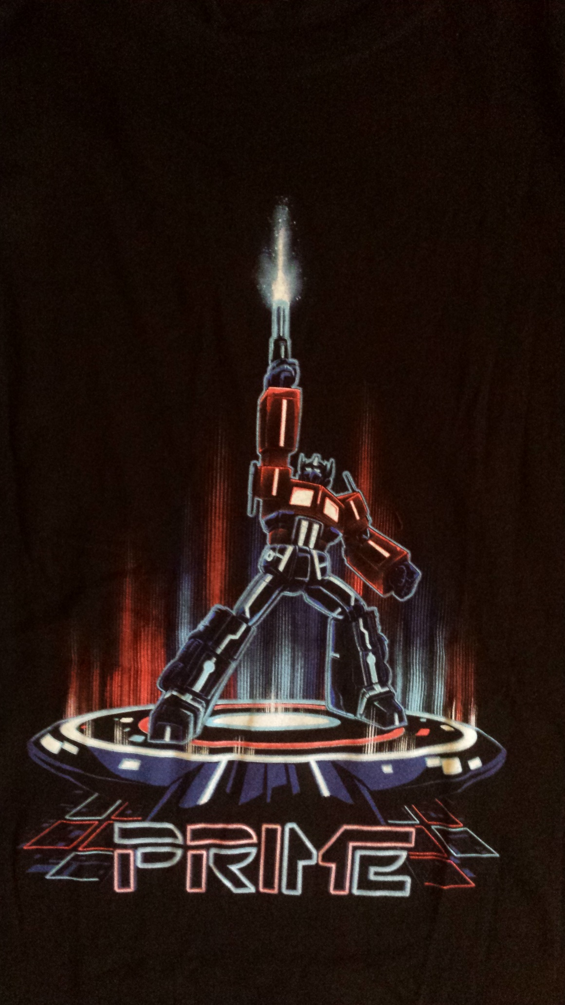 Cyber themed loot crate: transformers/tron tshirt