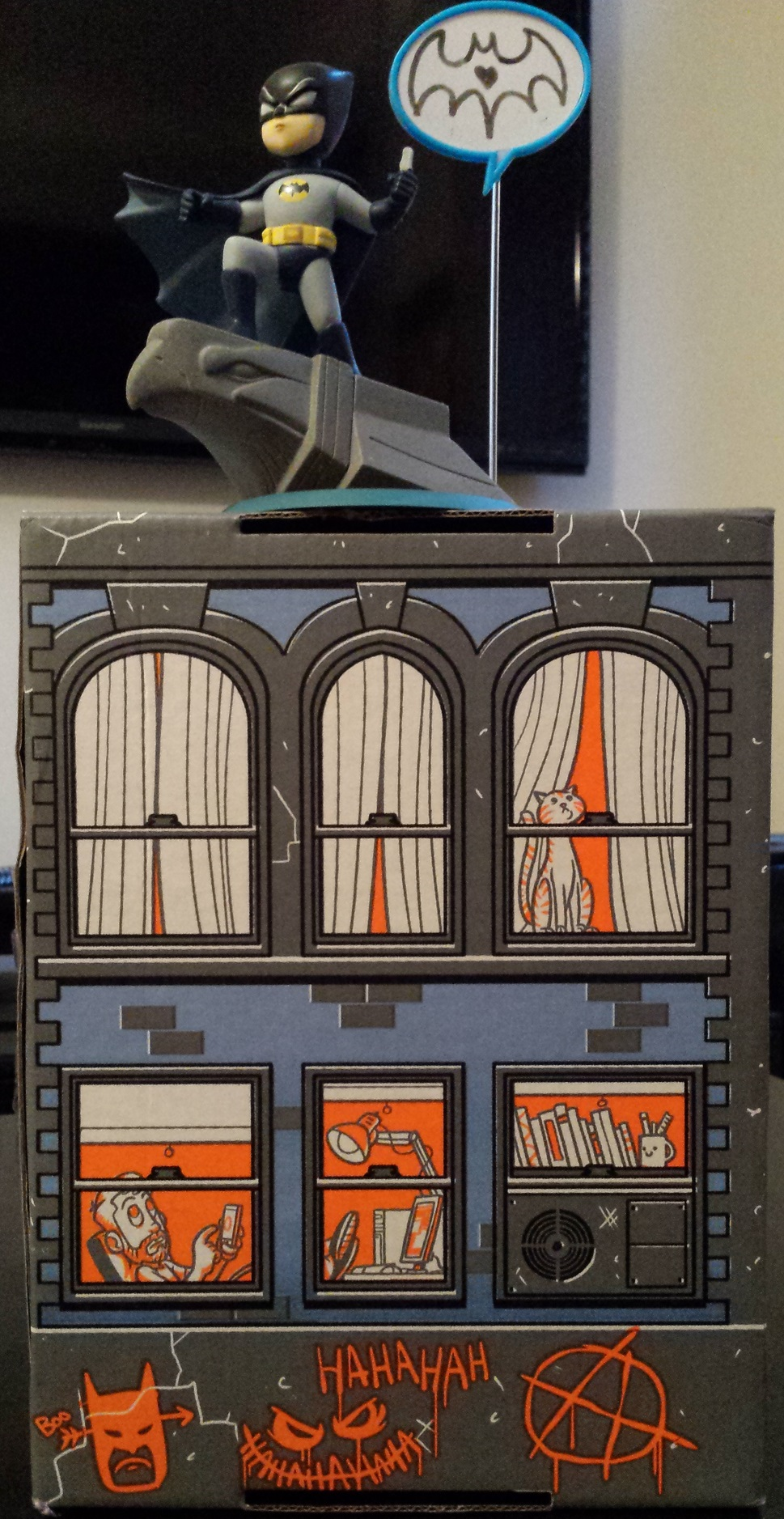 Joker graffiti on loot crate box