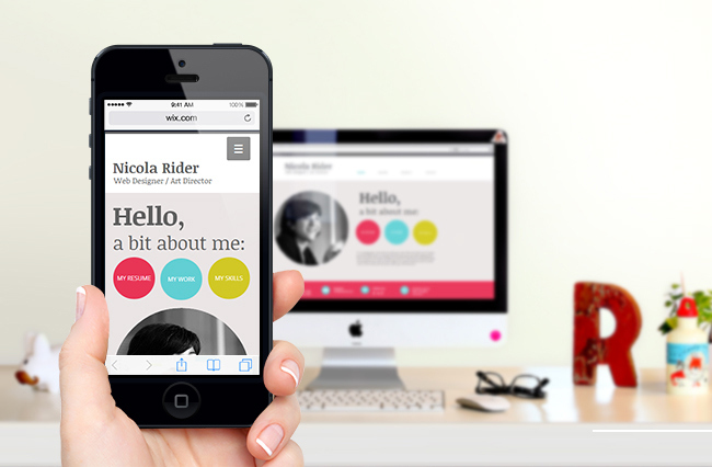 Wix mobile