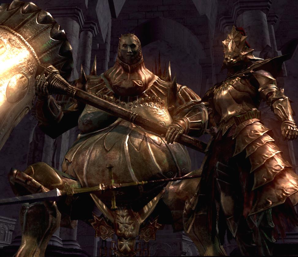 Ornstein and smough, dark souls, hardest video game bosses
