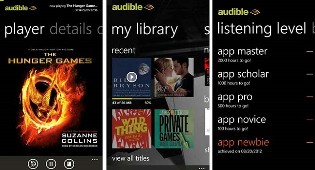 road trip apps, Audible