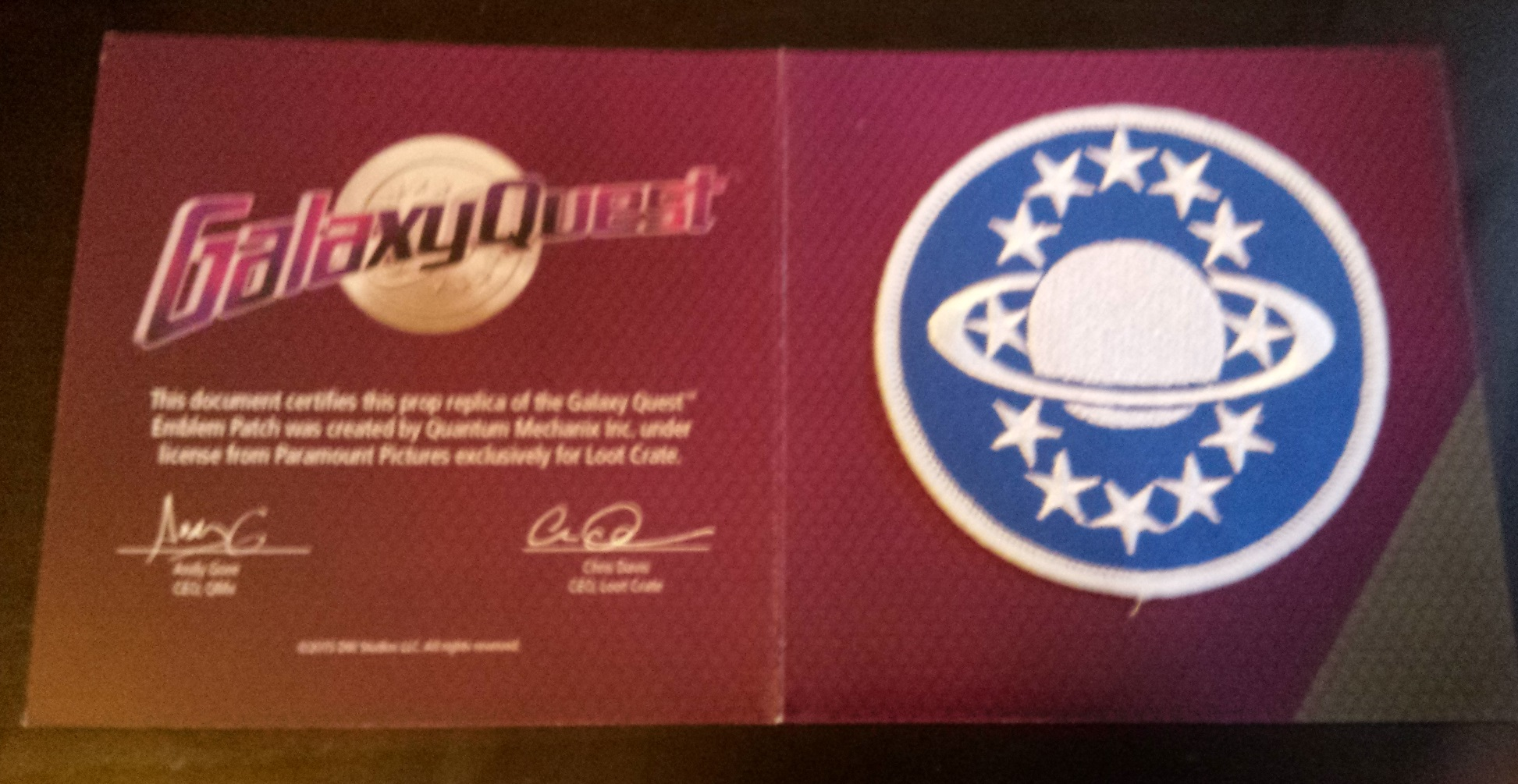 Galaxy quest, loot crate discovery