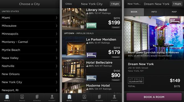 road trip apps, hoteltonight
