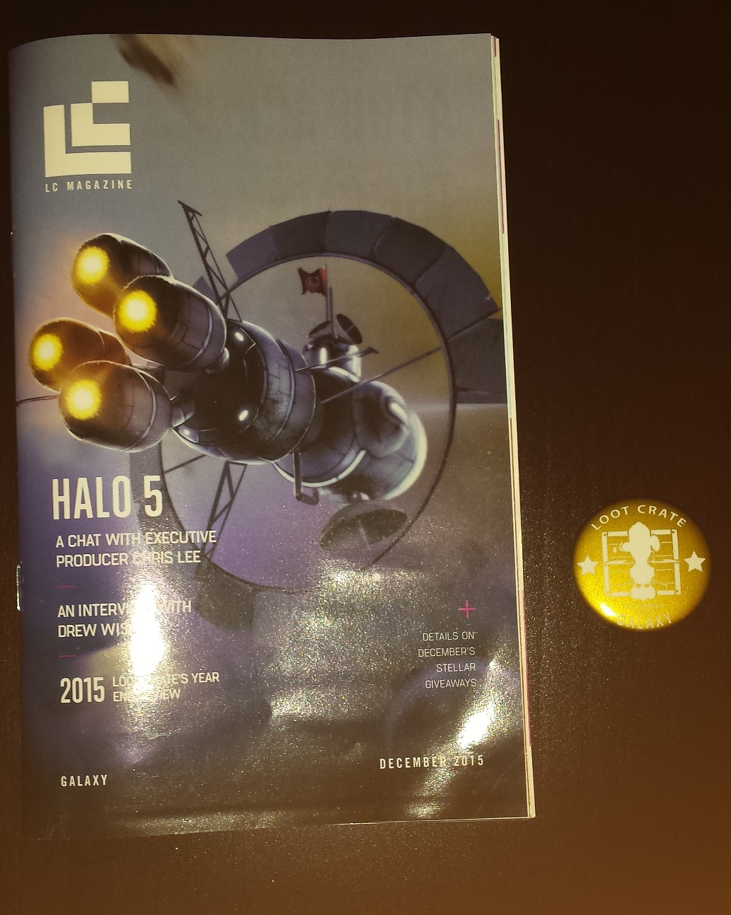 Loot crate magazine, halo 5