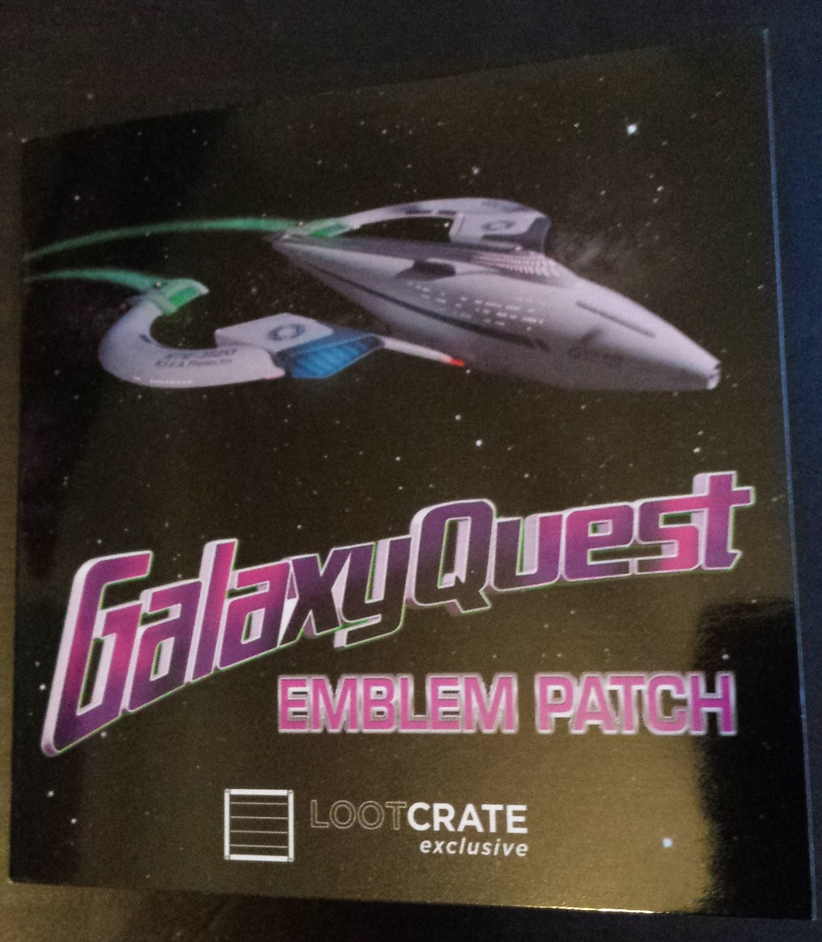 Galaxy quest emblem patch, loot crate, loot crate review, december loot crate, discovery loot crate