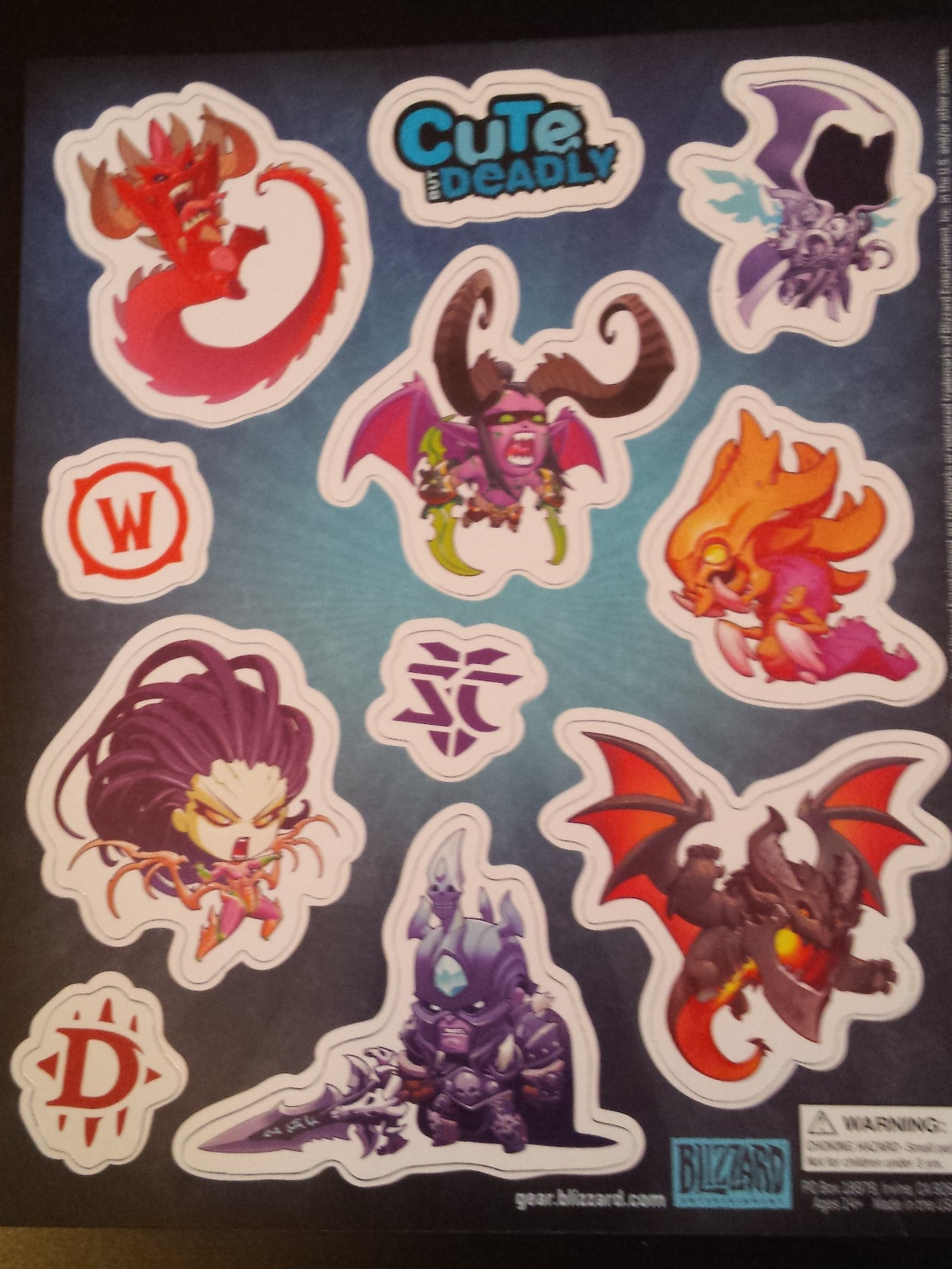 Cute but deadly blizzard stickers, loot crate, loot crate review, november loot crate, unboxing