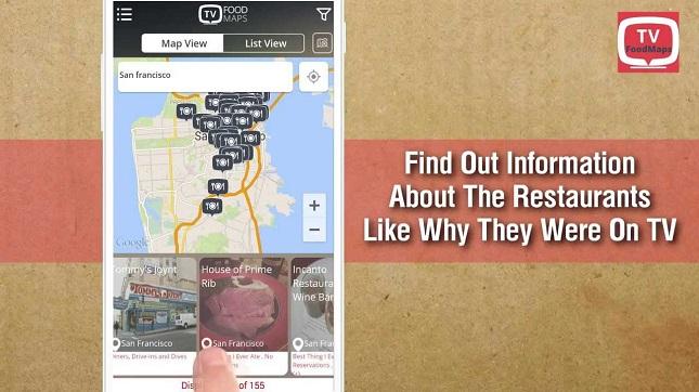road trip apps, tvfoodmaps