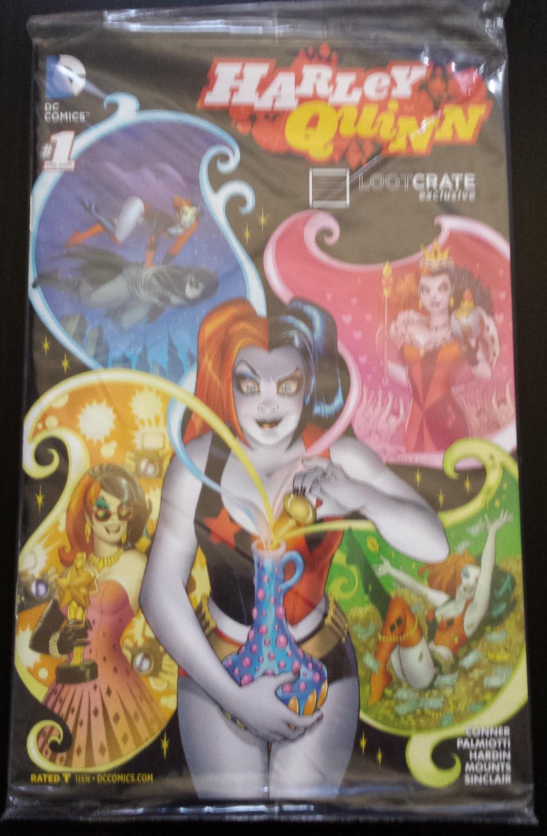 Exclusive comic book, harley quinn, loot crate march 2016, versus