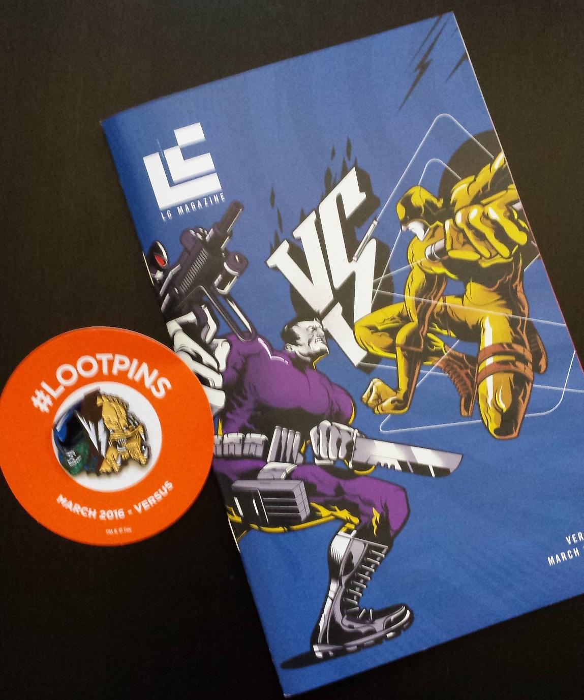 Loot crate, magazine cover, loot crate versus