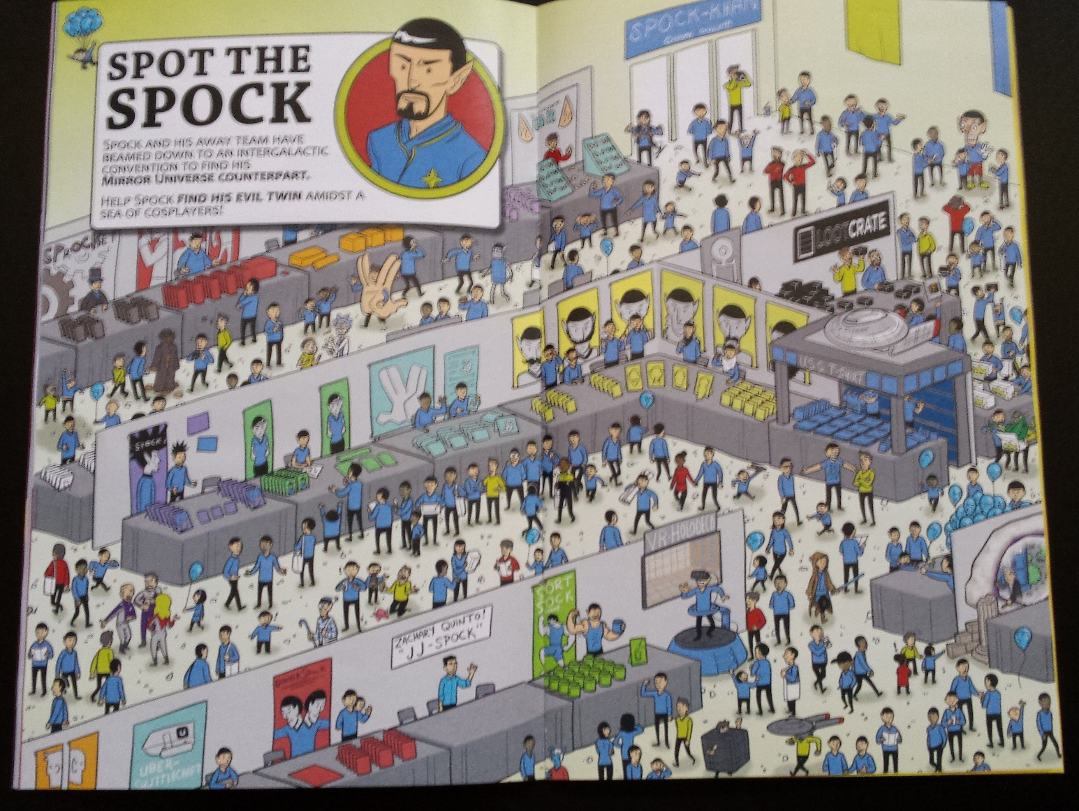 Loot crate magazine, loot crate versus, spot the spock