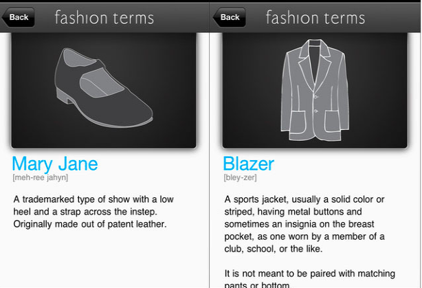 FAD- Fashion Dictionary, Fashion apps