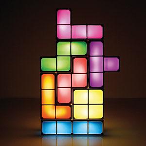 tetris lamp, geeky christmas gifts