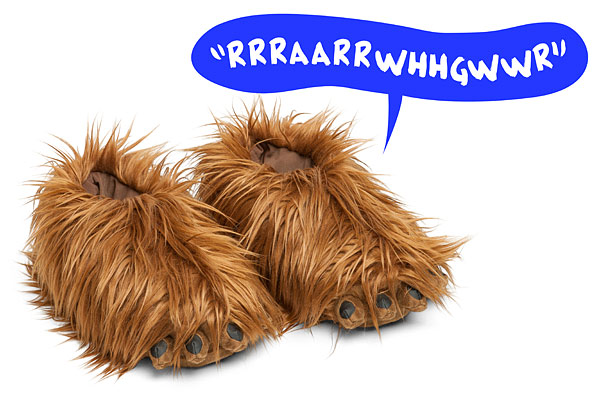 star wars chewbacca slippers, geeky christmas presents