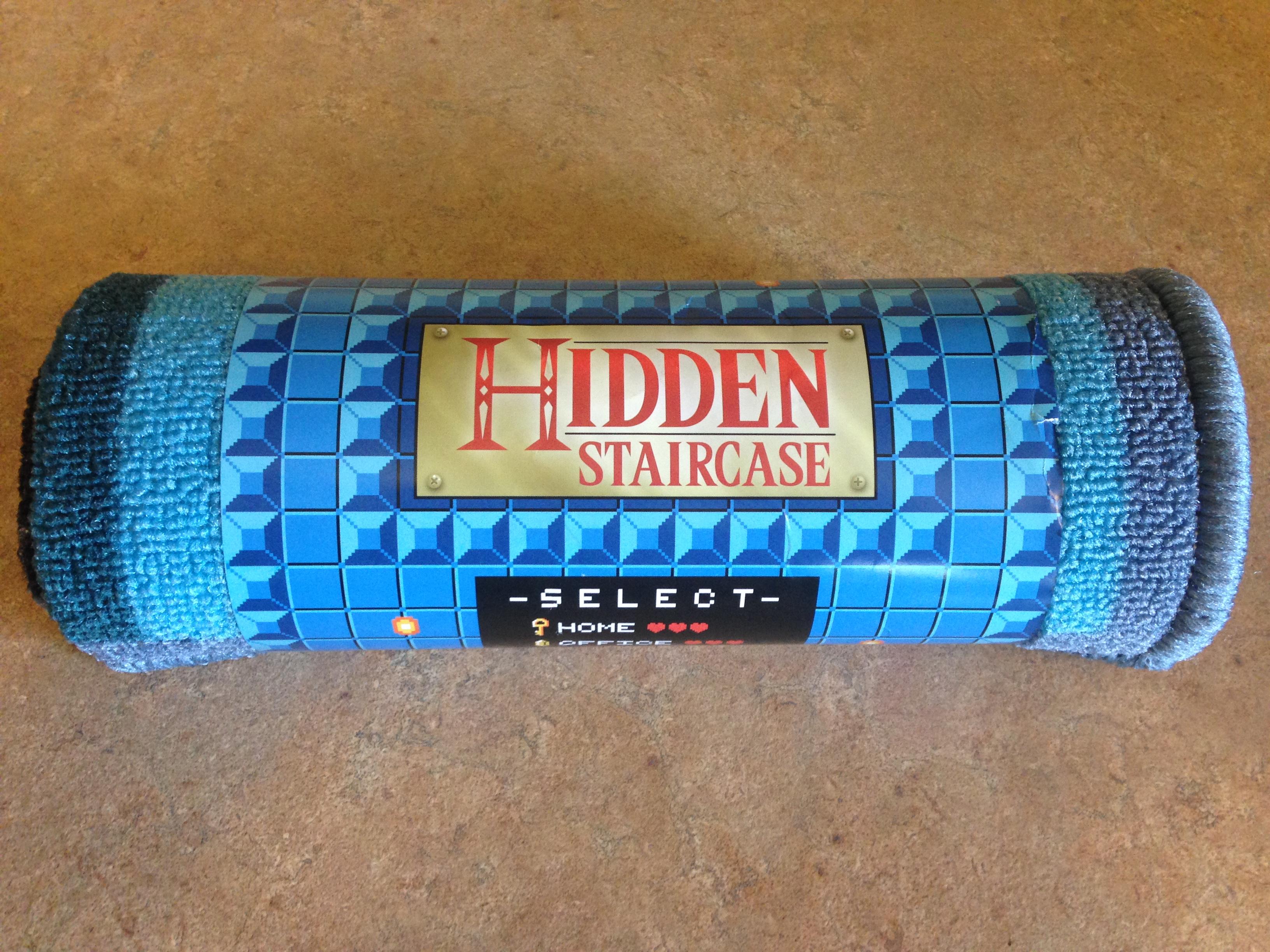 Legend of Zelda Hidden Staircase rug, Geek Fuel April 2017