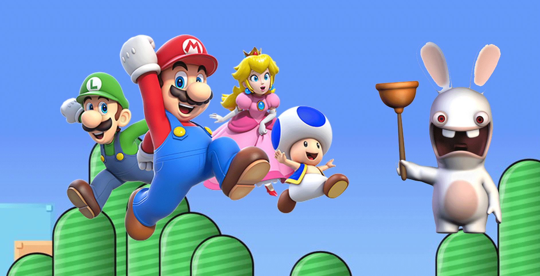 Mario and Rabbid Collision