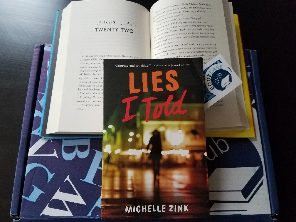 Bookcase club selection 'lies i told' by michelle zink