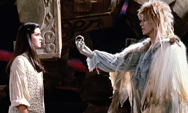Jareth and Sarah in the Labyrinth