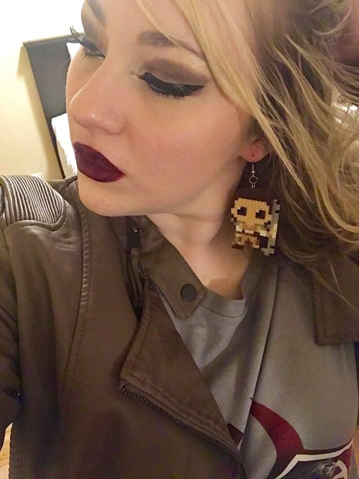 Geeky earrings, kawaii pixels shop