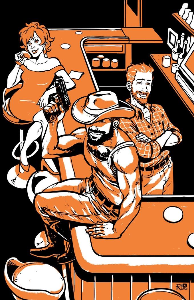 Tommy dakota, a queer western romance, lgbtq, crowdfunding, indiegogo, kickstarter, ragin', comic books, comics, indie comics, raginavc, raginpromos