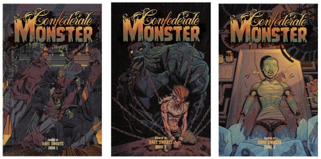 Confederate monster, comic books, indie comics, dave swartz, ragin, raginavc, indiegogo