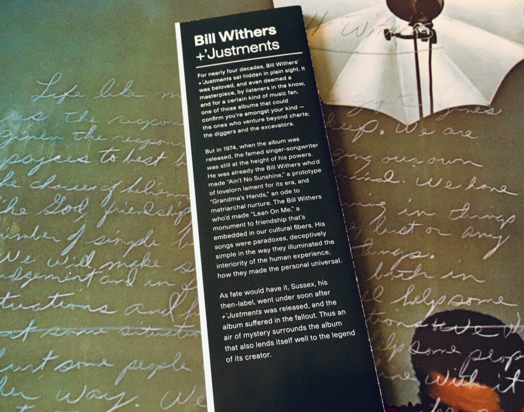 Geek insider, geekinsider, geekinsider. Com,, vinyl me, please august 2021 unboxing: bill withers - +'justments, culture, featured, geek life, music, reviews