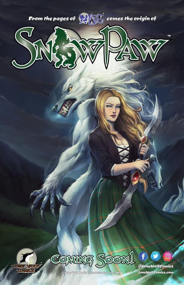 Rob Multari, Lone Wolf Comics, comic books, indie comics, Night Wolf, Snow Paw,