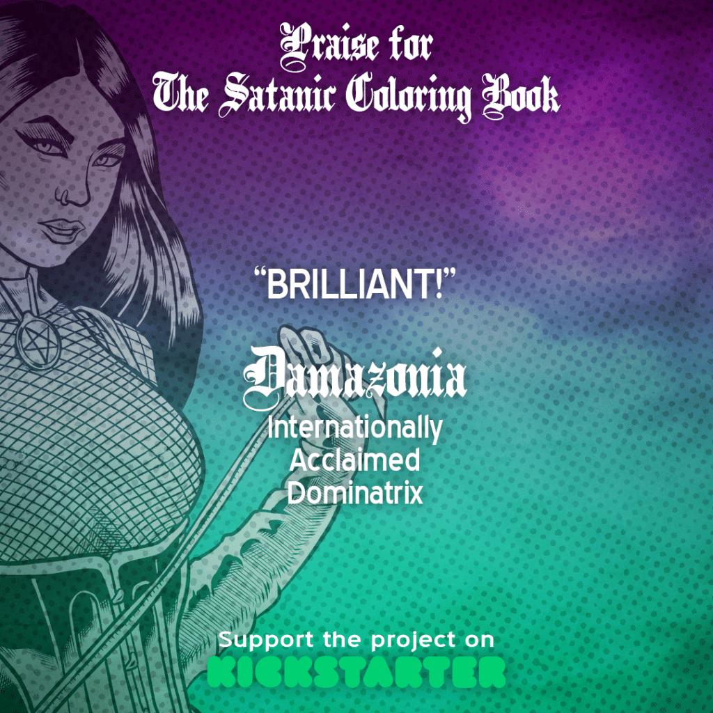 The satanic coloring book, jason lenox, art book, adult coloring book,